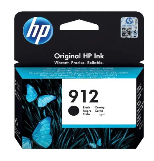 HP 3YL80AE 912 BLACK INK CART 300 PAGES