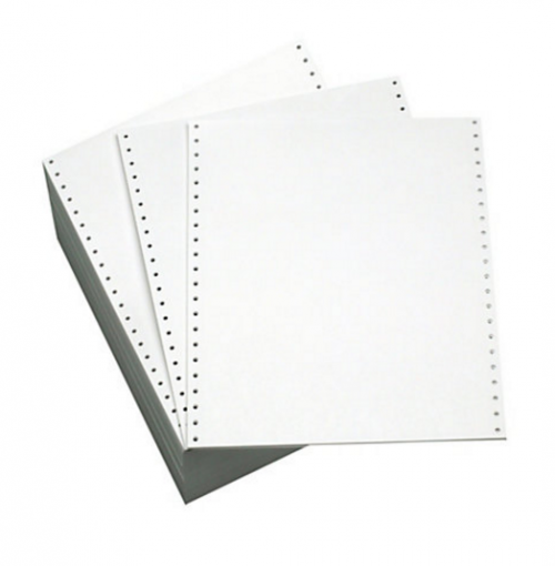 Listing Paper 11inx241mm 70g Plain Microperforated BX2000