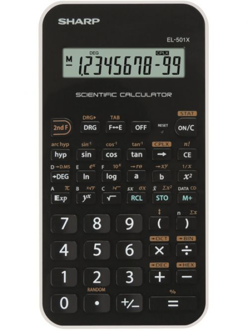 Sharp EL501XBWH Scientific Calculator Black/White