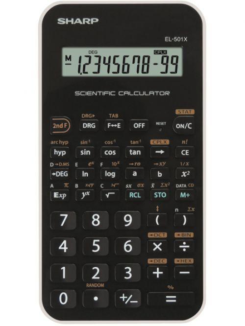 Sharp EL501XBWH Scientific Calculator Black/White