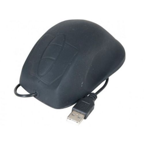 EXC USB PS2 Waterproof Silicone Mouse Black