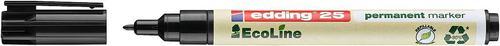 edding 25 EcoLine Permanent Bullet Tip Marker Black PK10