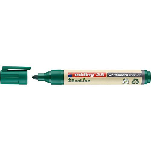 edding 28 EcoLine Whiteboard Bullet Tip Marker Green PK10