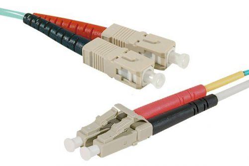 EXC 2m Fibre Duplex OM4 50 125 Aqua SCLC