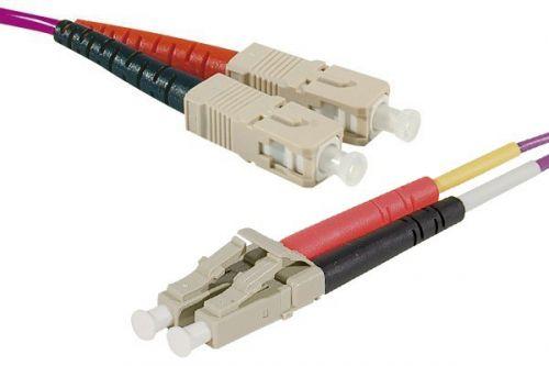 EXC 1m Fibre Duplex OM4 50 125 LSZH SCLC