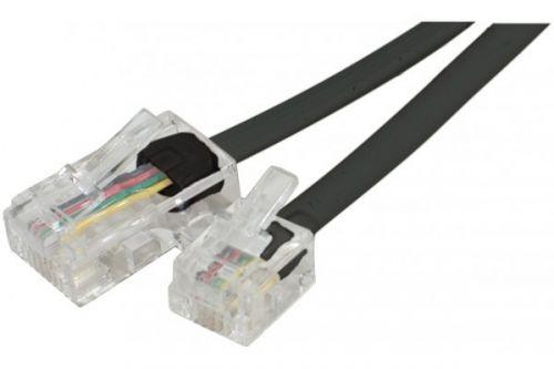 EXC 7m Telephone Cable RJ11 to RJ45 Black