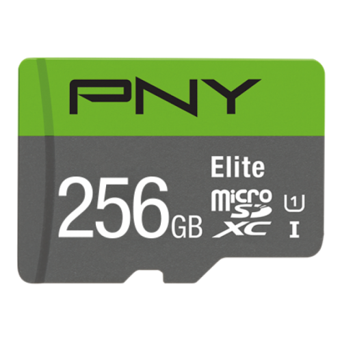 PNY 256GB Elite CL10 UHS1 MicroSDXC and AD