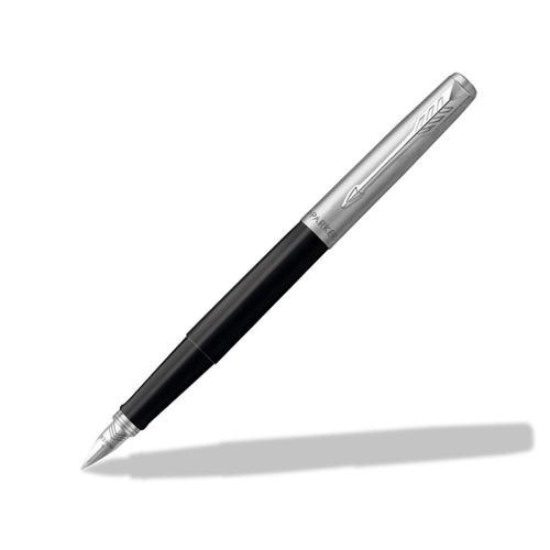 Parker Jotter Fountain Pen Black Finish Blue and Black Ink