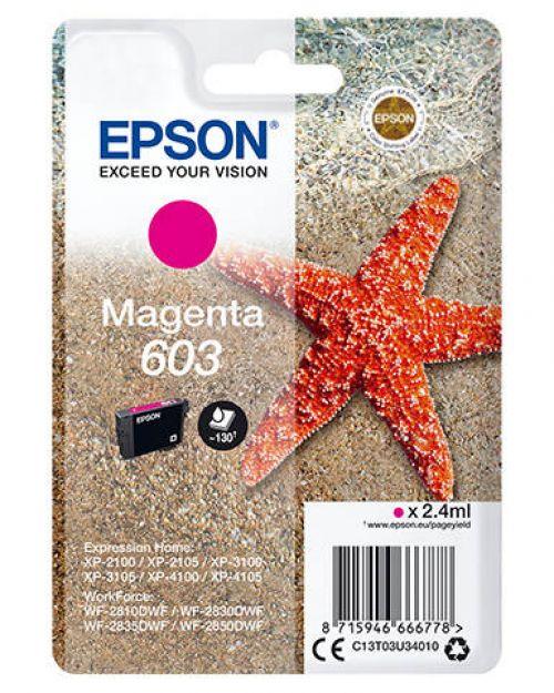 Epson C13T03U34010 603 Magenta Ink 2.4ml
