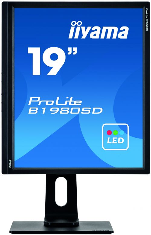 19in LED Monitor Speakers Adjustable DVI