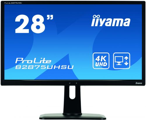 28in 4K Monitor Speakers Adjustable USB