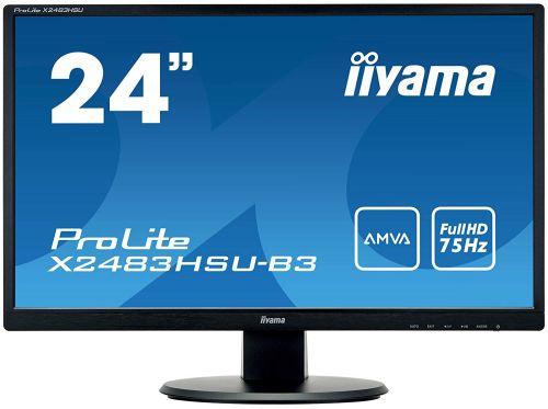 23.8in LED Monitor HD Speakers VGA HDMI