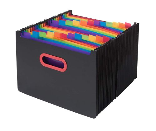Rainbow & Black A4 24-Part Desk Expander