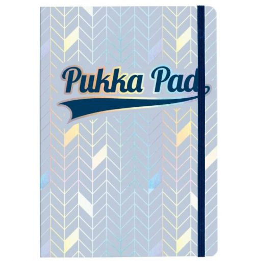 Pukka Pad Glee A5 Casebound Card Cover Journal Ruled 96 Pages Light Blue (Pack 3)