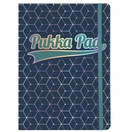 Pukka Pad Glee A5 Casebound Card Cover Journal Ruled 96 Pages Dark Blue (Pack 3)