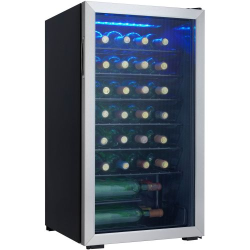 36 Bottles 93L Black Wine Cooler
