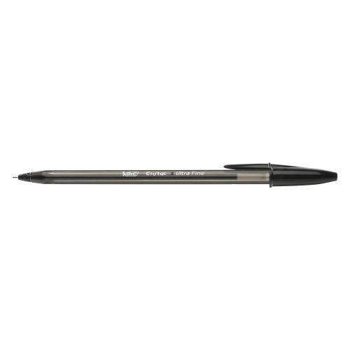 Bic Cristal Exact Ballpoint Pen 0.7mm Tip 0.28mm Line Black (Pack 20)