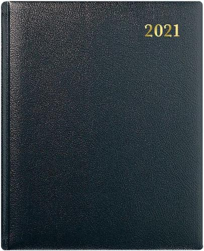 Collins QB7 Leather Quarto WTV Appoinments 2021 Diary Black