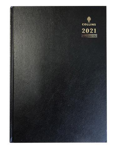 Collins Desk Diary Day Per Page A4 Black 2021 44