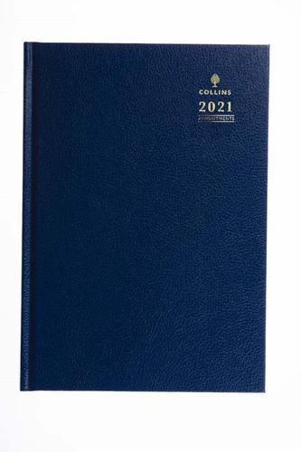 Collins Desk Diary Day Per Page A4 Blue 2021 44