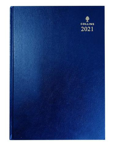 Collins 40 A4 Week to View 2021 Diary Blue
