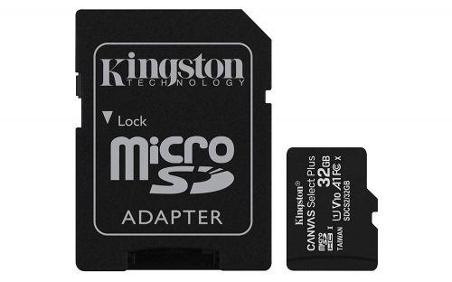 32GB CS Plus C10 MicroSDHC and Adapter