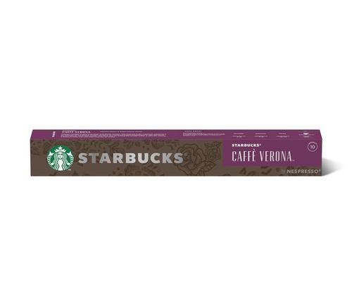 STARBUCKS by Nespresso Caffe Verona Espresso 5.7g Coffee Pods (Pack 10) 12423396