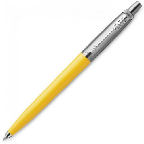 Parker Medium Ballpoint Jotter Yellow Barrel Blue Ink Pen