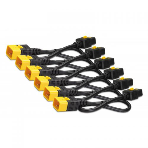 1.2m Locking  C13 to C14 Power Cables x6