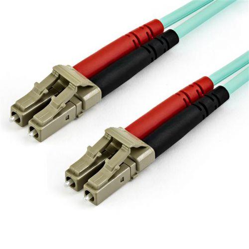 15m OM3 LC LC Aqua Fiber Optical Cable