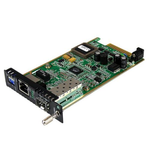 GbE Fiber Media Conv Card Open SFP Slot