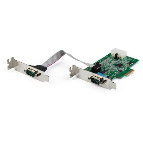 2 Port RS232 Serial Adapter PCIe Card
