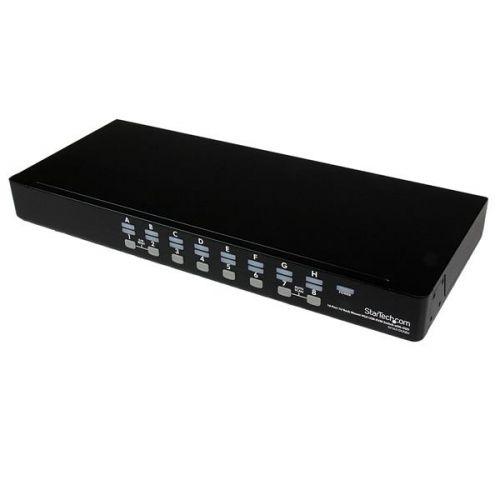 16 Port 1U Rack Mount USB OSD KVM Switch
