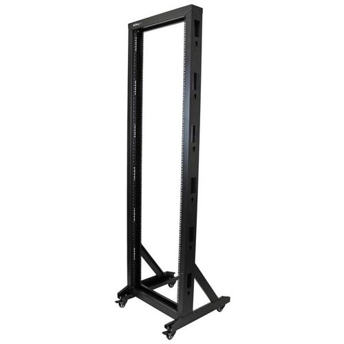 42U 2 Post Server Rack with Casters