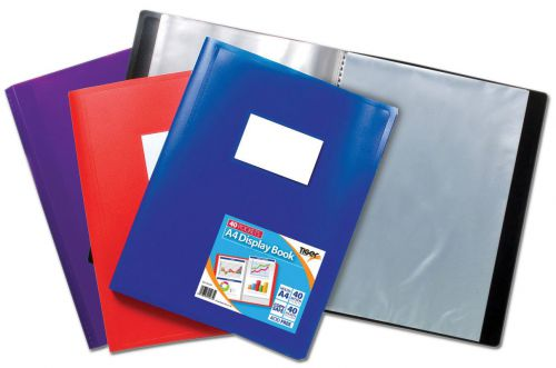 Tiger A4 Flexi Disp Book Assorted 40 Pocket