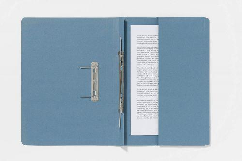 Forever Spring Pocket Transfer File Manilla Foolscap 300gsm Blue (Pack 25)