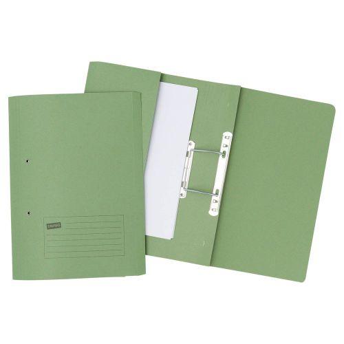 Forever Pocket Spiral File Foolscap Green PK25