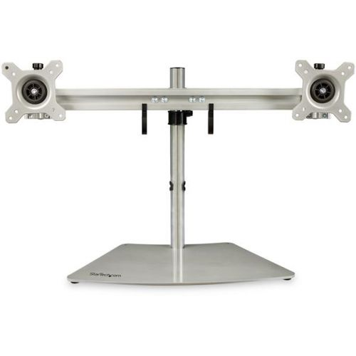 Up to 24in Dual Monitor Stand Silver