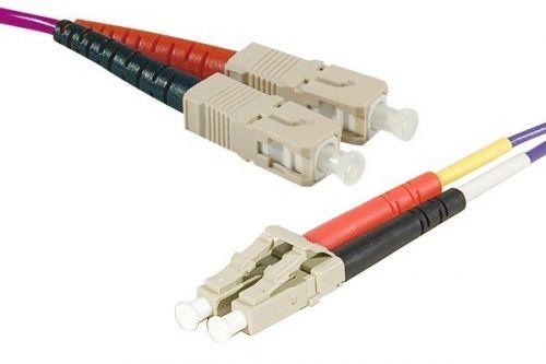 15m Fibre OM3 50 125 SCLC Purple Cable