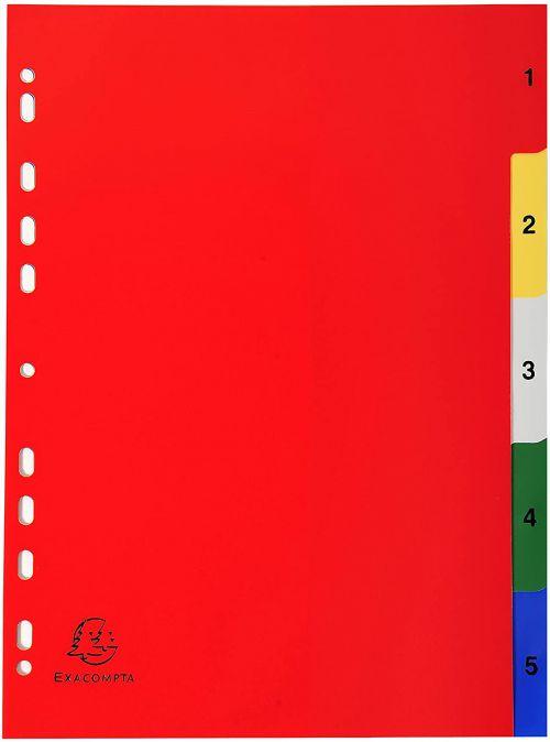 Exacompta PP A4 Index 1-5 Colour Tabs