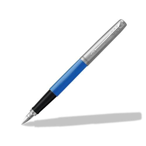 Parker Jotter Fountain Pen Blue/Stainless Steel Barrel Blue and Black Ink