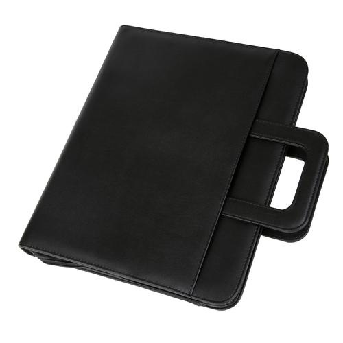 Alassio Leonardo A4 Organiser File Leather Black