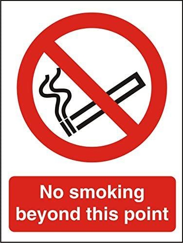 No Smoking Beyond Sign
