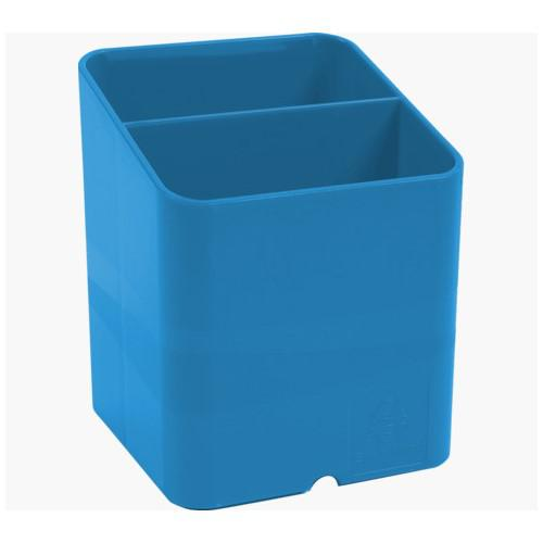 Exacompta CleanSafe Pen Pot 2 Compartments Blue