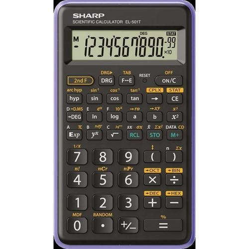 Sharp EL501 Scientific Calculator Black/Purple