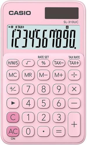 Casio SL-310 Pocket Calculator Pink
