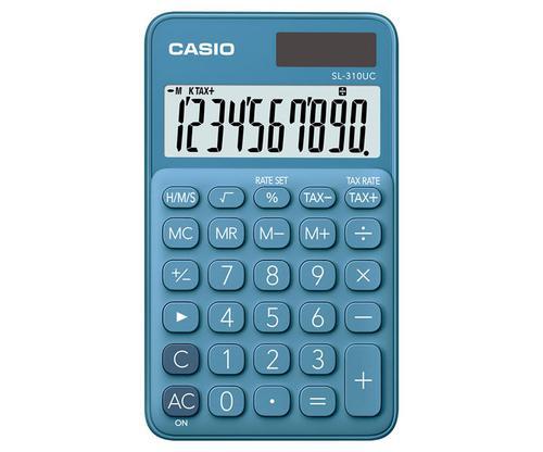 Casio SL-310 10 Digit Pocket Calculator Blue