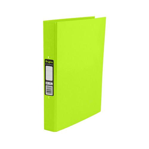 Pukka Brights Ring Binder Laminated Paper on Board 2 O-Ring A4 25mm Rings Green (Pack 10)