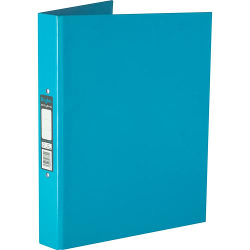 Pukka Brights Ring Binder Laminated Paper on Board 2 O-Ring A4 25mm Rings Blue (Pack 10)