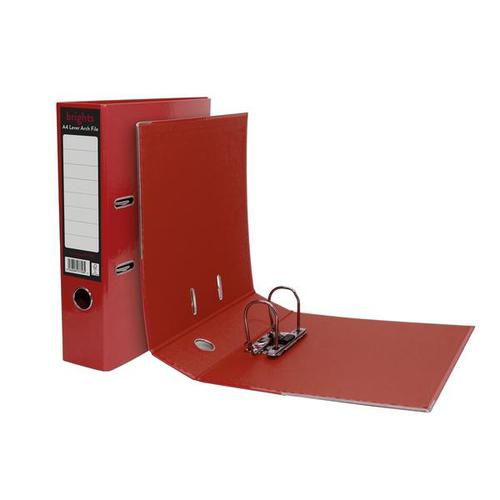Pukka Brights Lever Arch File Laminated Paper on Board A4 70mm Spine Width Red (Pack 10)